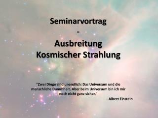 Seminarvortrag -