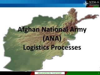 Afghan National Army (ANA)  Logistics  Processes