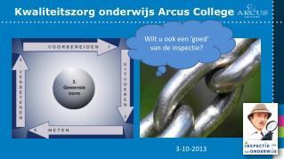 Kwaliteitszorg onderwijs Arcus College