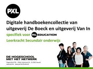 Digitale handboekencollectie van uitgeverij De  Boeck  en uitgeverij Van In