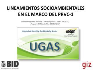 LINEAMIENTOS SOCIOAMBIENTALES  EN EL MARCO DEL PRVC-1