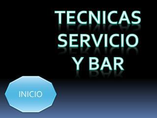 TECNICAS  SERVICIO  Y BAR
