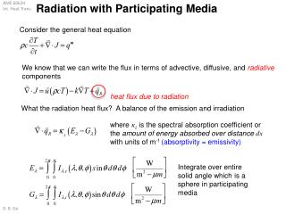 Radiation with Participating Media