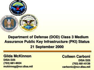 Colleen Carboni DISA D25 703 681-6139 carbonicncr.disa.mil