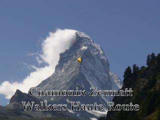 Chamonix-Zermatt