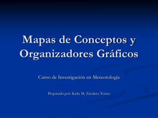 Mapas de Conceptos y Organizadores Gr ficos