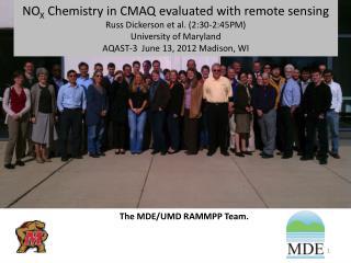 The MDE/UMD RAMMPP Team.