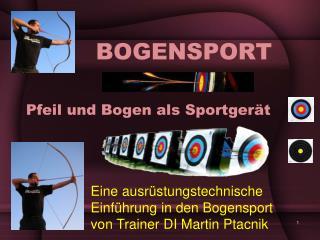 Pfeil und Bogen als Sportgerät