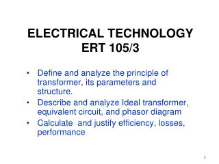 ELECTRICAL TECHNOLOGY  ERT 105/3