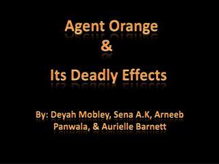 By:  Deyah  Mobley,  Sena  A.K,  Arneeb Panwala , &  Aurielle  Barnett