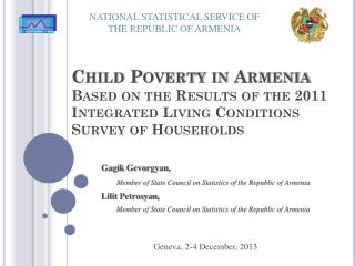 NATIONAL STATISTICAL SERVICE OF THE REPUBLIC OF ARMENIA