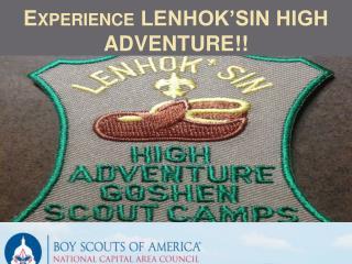 Experience LENHOK'SIN HIGH ADVENTURE!!