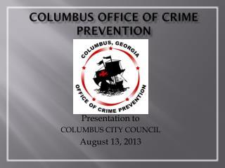 Columbus Office of Crime Prevention