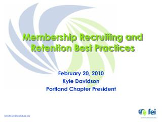 Membership Recruiting and Retention Best Practices