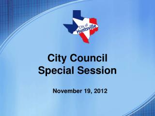 City Council Special Session
