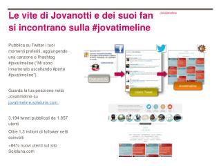 Le vite di Jovanotti e dei suoi fan si incontrano sulla #jovatimeline