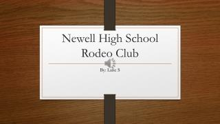 Newell High School Rodeo Club