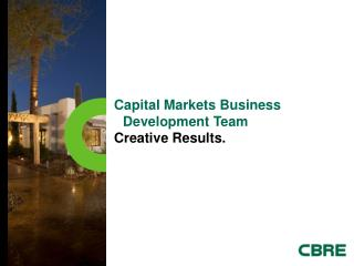 Capital Markets Business Development Team Creative Results.
