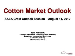 Cotton Market Outlook