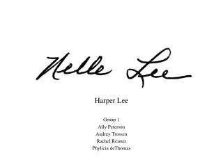 Harper Lee Group 1 Ally Peterson Audrey  Trossen Rachel Reimer Phylicia deThomas