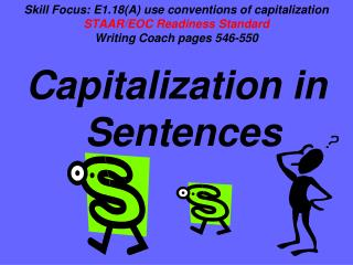 Capitalization in Sentences