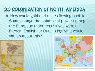 3.3 Colonization of North America