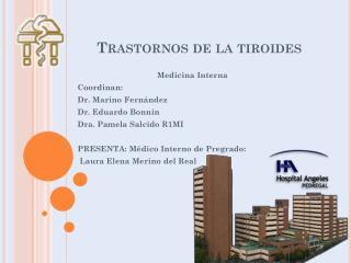 Trastornos de la tiroides