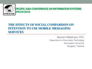Pacific Asia Conference on Information Systems  ( PACIS 2014)