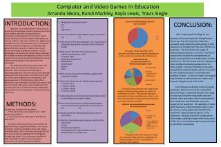 Computer and Video Games In Education Amanda Sikora, Randi Markley, Kayla Lewis, Travis Siegle