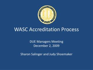 WASC Accreditation Process