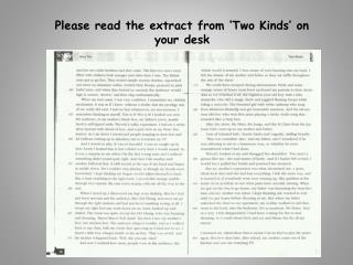 Please read the extract from 'Two Kinds' on your desk