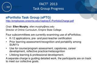 e Portfolio  Task Group ( ePTG )