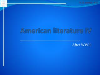 American literature  IV