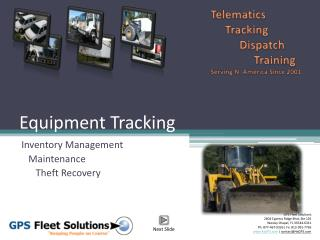 Equipment Tracking