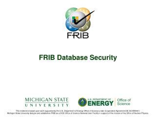 FRIB Database Security