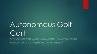Autonomous Golf Cart