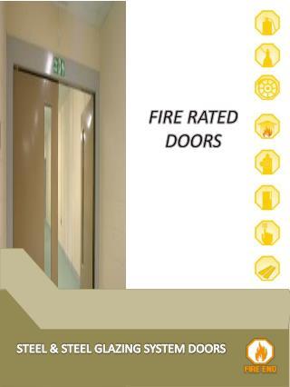 STEEL & STEEL GLAZING SYSTEM DOORS