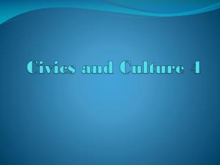 Civics and Culture 4