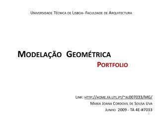 Universidade Técnica  de Lisboa-  Faculdade  de  Arquitectura