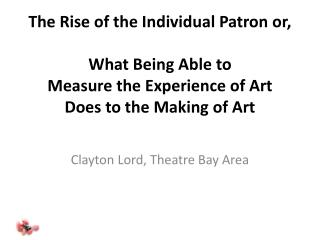 Clayton Lord, Theatre Bay Area
