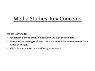 Media Studies: Key Concepts