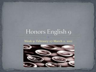 Honors English 9