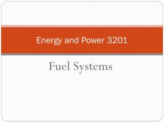 Energy and Power 3201