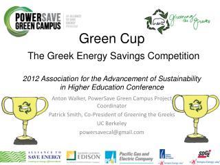 Anton Walker, PowerSave Green Campus Project  Coordinator