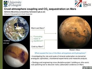 Crust-atmosphere coupling and CO 2  sequestration on Mars