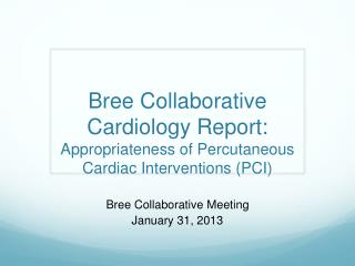 Bree  Collaborative Meeting January 31, 2013