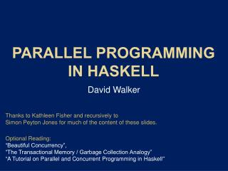 Parallel Programming in Haskell