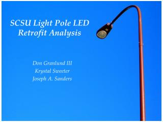 SCSU Light Pole LED Retrofit Analysis