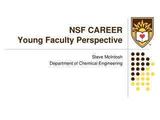 NSF CAREER Young Faculty Perspective