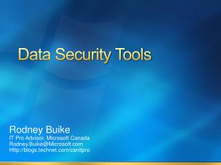 Data Security Tools